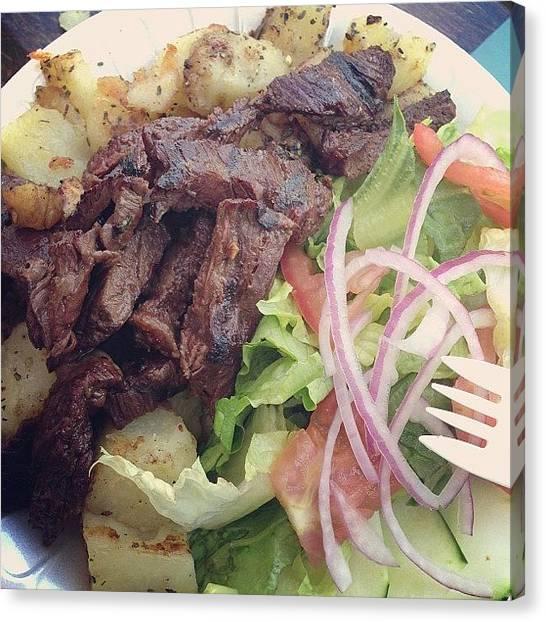 Salad Canvas Print - Www.kingsofsports.com #free by Alex Mamutin