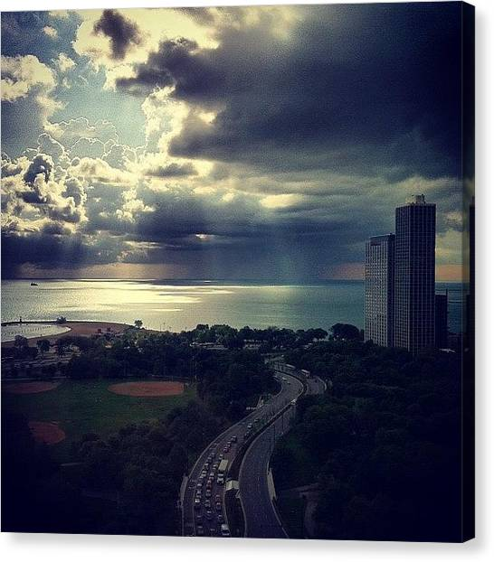 Lake Michigan Canvas Print - Instagram Photo by Jennifer Gaida