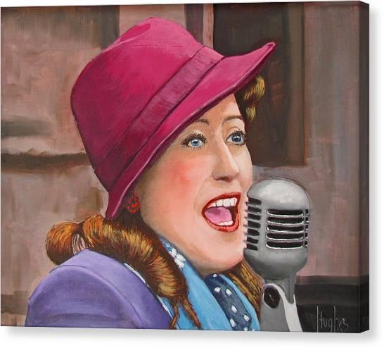 40s Singer Canvas Print