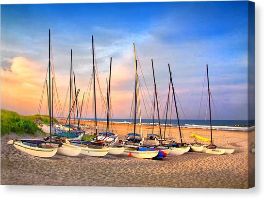 41st Street Sailing Beach Canvas Print
