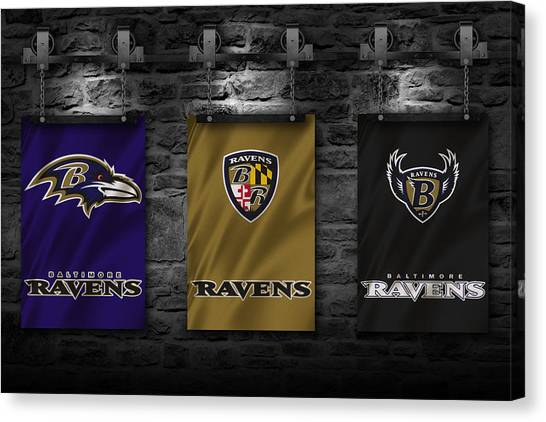 Baltimore Ravens Canvas Print - Baltimore Ravens by Joe Hamilton