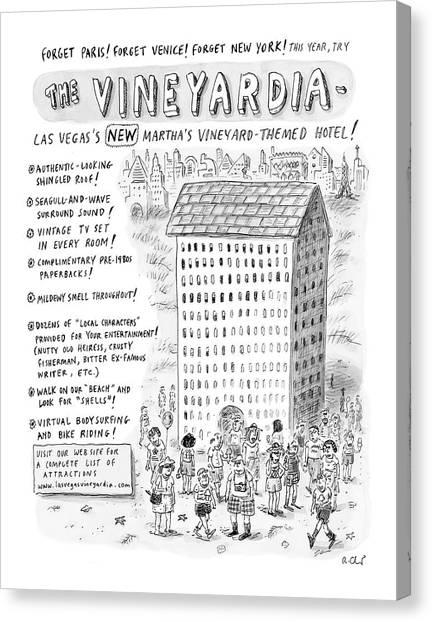 Marthas Vineyard Canvas Print - The Vineyardia by Roz Chast