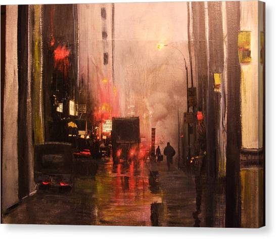 42nd And Broadway Ny Ny Canvas Print