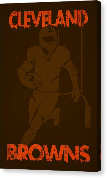 Cleveland Browns Canvas Print - Cleveland Browns by Joe Hamilton