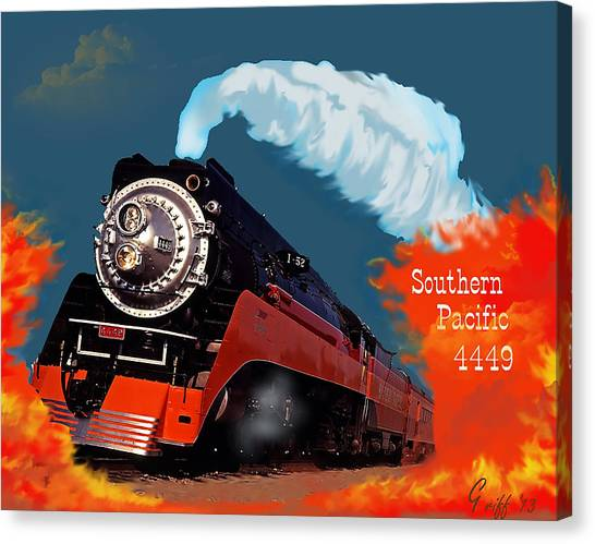 4449 Through The Fire Graphic Canvas Print