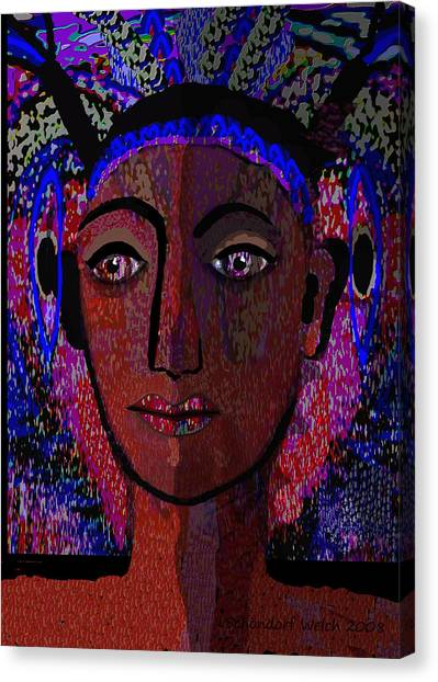 447 - Dark Lady Canvas Print by Irmgard Schoendorf Welch