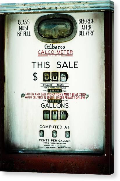 45 Cents Per Gallon Canvas Print