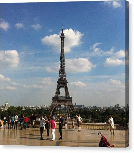 Paris Skyline Canvas Print - #skyline #skyscape #clouds #cloudscape by Mladen Djumic