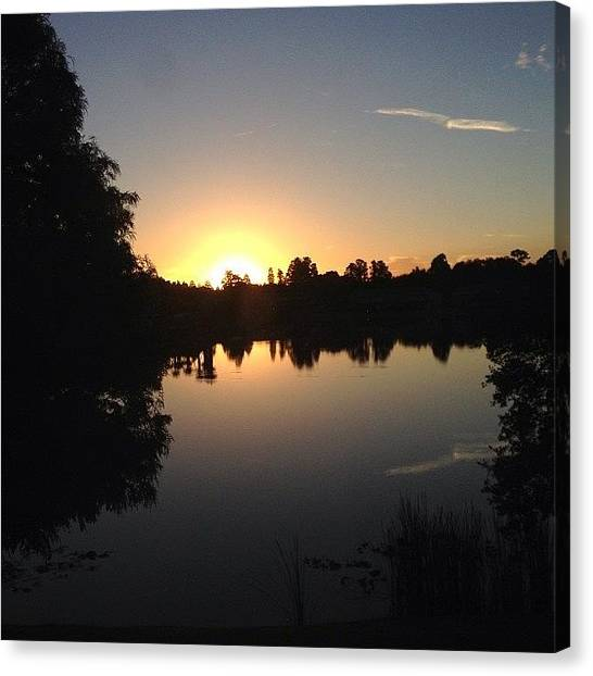 Lake Sunrises Canvas Print - Instagram Photo by Laura OConnell