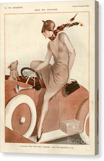 Fashion Plate Canvas Print - 1920s France La Vie Parisienne Magazine by The Advertising Archives