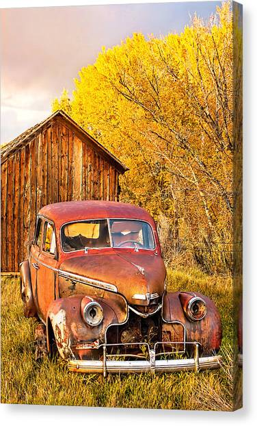 46 Chevy In The Weeds Canvas Print