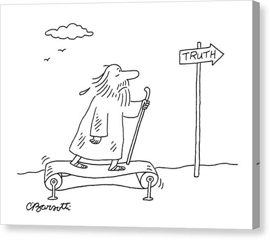 Pilgrims Canvas Print - New Yorker April 16th, 2007 by Charles Barsotti