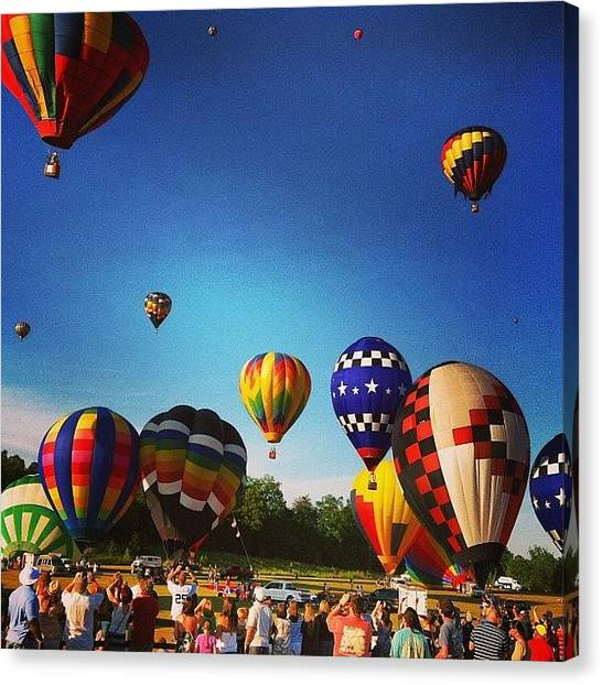 Hot Air Balloons Canvas Print - Instagram Photo by Jennifer Gaida