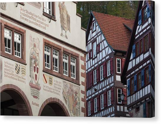 Black Forest Canvas Print - Germany, Baden-wurttemburg, Black by Walter Bibikow