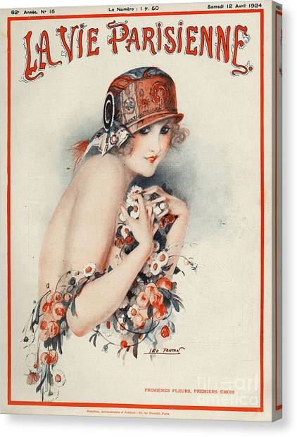 Woman Canvas Print - La Vie Parisienne  1924 1920s France by The Advertising Archives