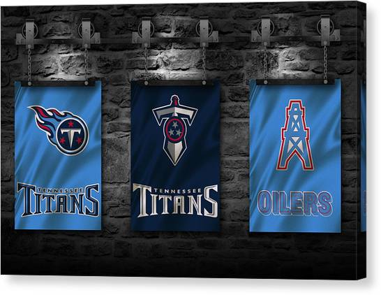 Tennessee Titans Canvas Print - Tennessee Titans by Joe Hamilton