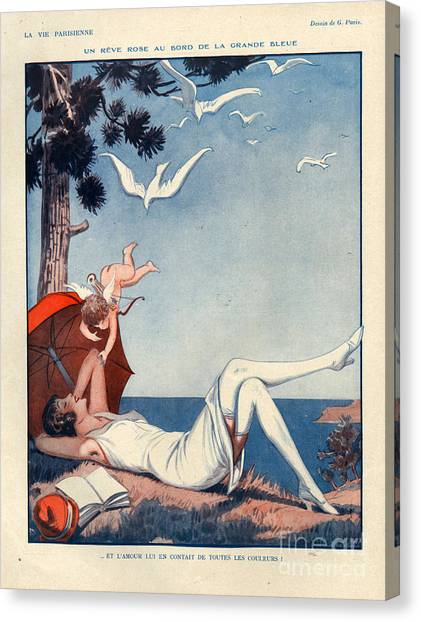 Rolling Stone Magazine Canvas Print - 1920s France La Vie Parisienne Magazine by The Advertising Archives