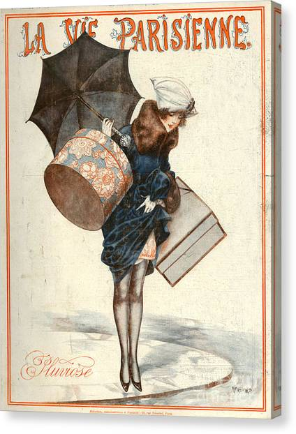 Vintage Canvas Print - 1920s France La Vie Parisienne Magazine by The Advertising Archives