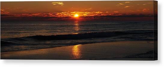 48 Degrees At The Beach Canvas Print