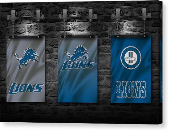 Detroit Lions Canvas Print - Detroit Lions by Joe Hamilton