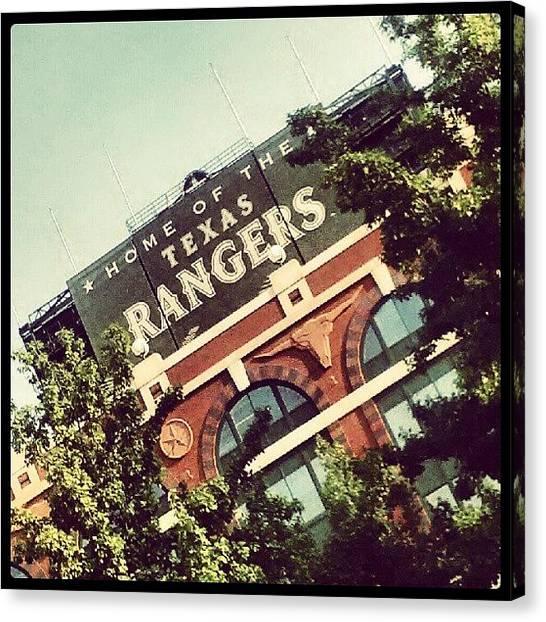 Texas Rangers Canvas Print - Texas Baseball by Rosie Lackey