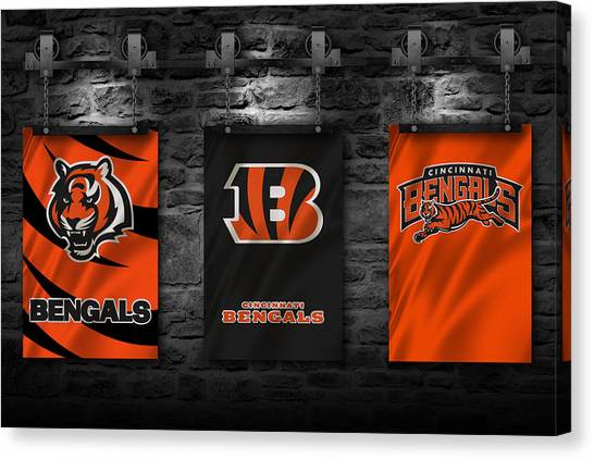 Cincinnati Bengals Canvas Print - Cincinnati Bengals by Joe Hamilton