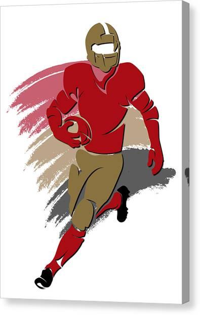 San Francisco 49ers Canvas Print - 49ers Shadow Player2 by Joe Hamilton