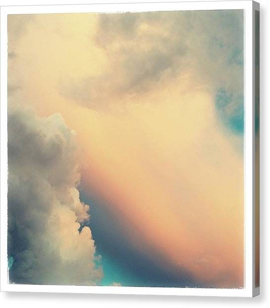 Sunrise Horizon Canvas Print - Симфония неба by Raimond Klavins