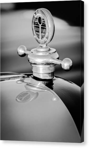 Touring Canvas Print - 1922 Studebaker Touring Hood Ornament by Jill Reger