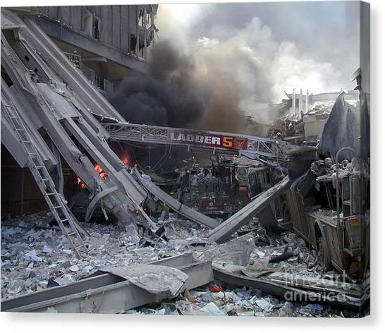 9-11-01 Wtc Terrorist Attack Canvas Print