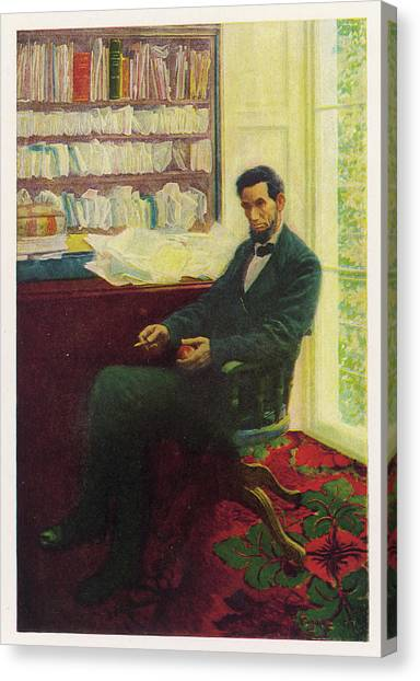 Abraham Lincoln (1809 - 1865) U Canvas Print by Mary Evans Picture Library