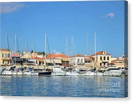 Gulf Canvas Print - Aegina Port by George Atsametakis