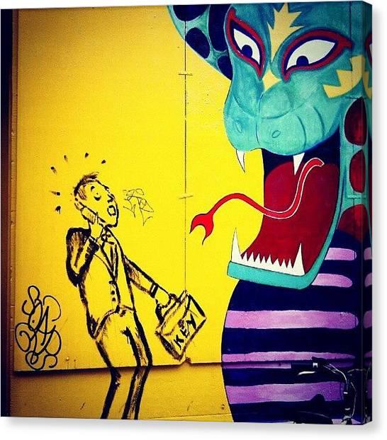 Vipers Canvas Print - #amsterdam #amsterdamstreetart by Jason Emmett