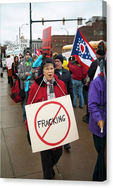 Fracking Canvas Print - Anti-fracking Protest by Jim West