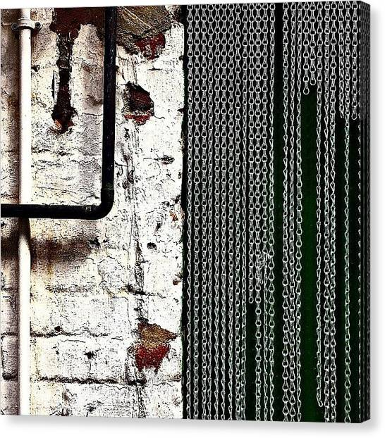 Geometric Canvas Print - Chain Door by Jason Michael Roust