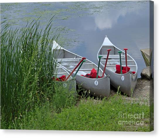 At Waters Edge Canvas Print