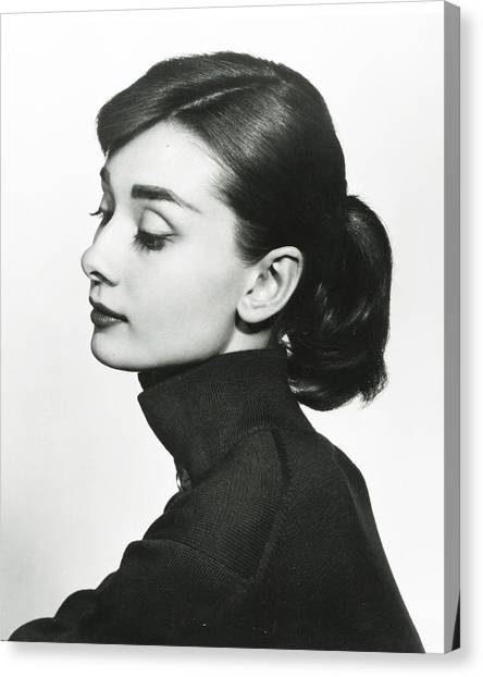 Audrey Hepburn Canvas Print - Audrey Hepburn by Retro Images Archive