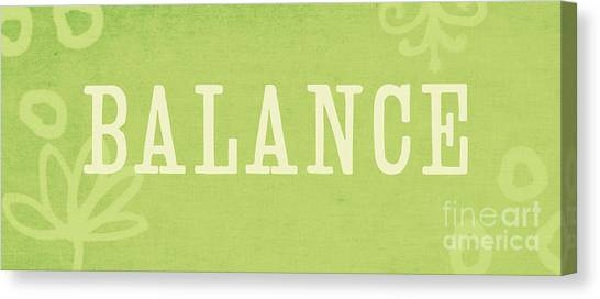 Yoga Canvas Print - Balance by Linda Woods