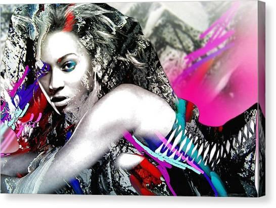 Beyonce Canvas Print by Bogdan Floridana Oana