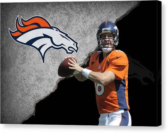 Peyton Manning Canvas Print - Broncos Peyton Manning by Joe Hamilton