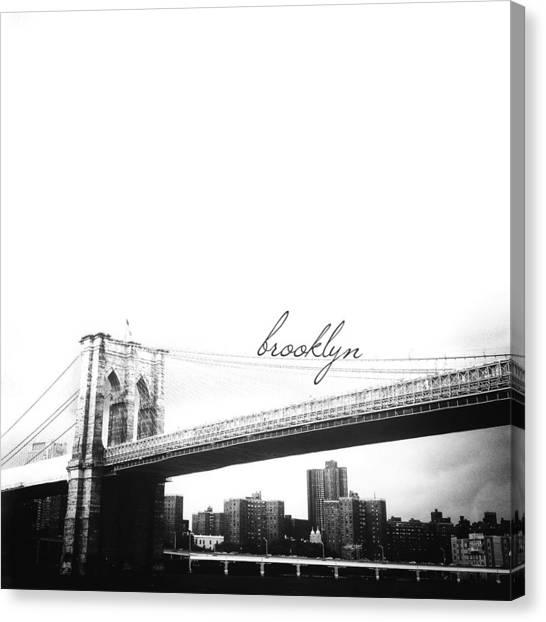 New York City Canvas Print - Brooklyn by Natasha Marco