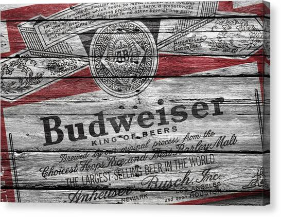 Keg Canvas Print - Budweiser by Joe Hamilton