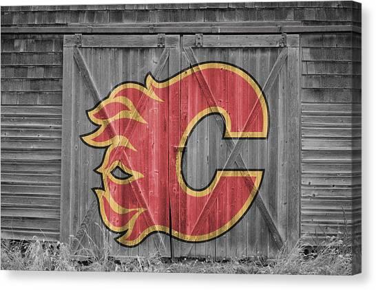 Calgary Flames Canvas Print - Calgary Flames by Joe Hamilton