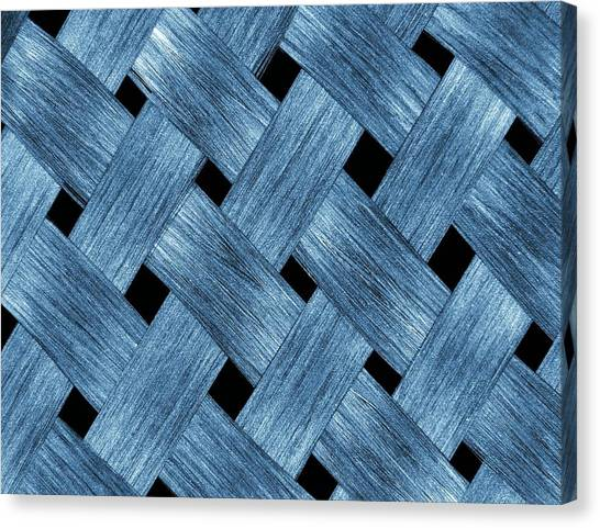 Carbon Fibre Fabric Canvas Print by Alfred Pasieka