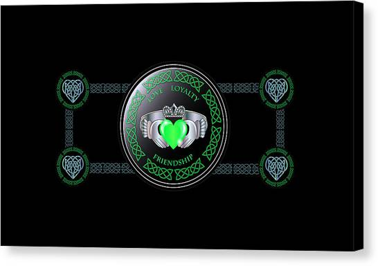 Celtic Claddagh Ring  Canvas Print