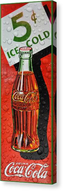5 Cent Coca-cola From 1886 - 1959 Canvas Print