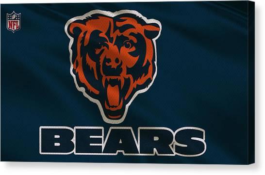Chicago Bears Canvas Print - Chicago Bears Uniform by Joe Hamilton