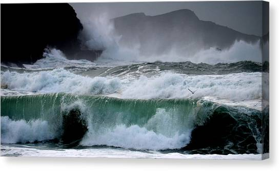 Clogher Waves Canvas Print