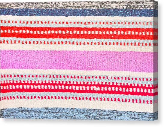 Decorative Canvas Print - Colorful Rug by Tom Gowanlock