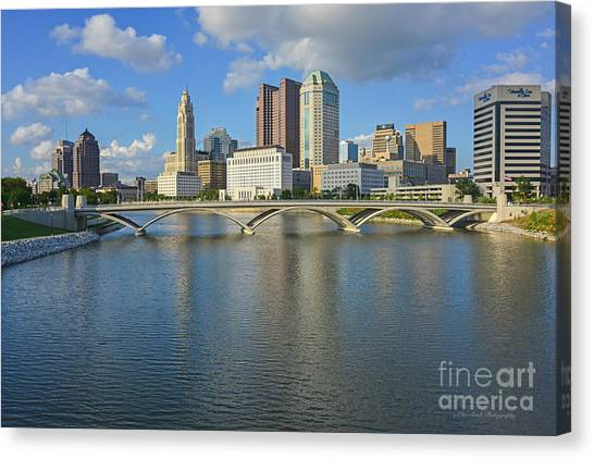 Fx1l-802 Columbus Ohio Skyline Photo Canvas Print